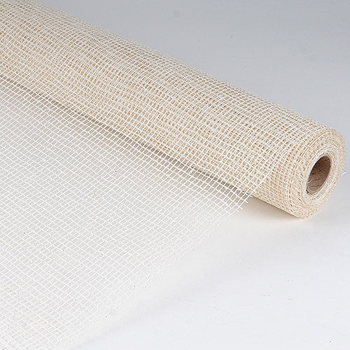 Natural Cotton Jute White ( 21 Inch x 6 Yards ) -