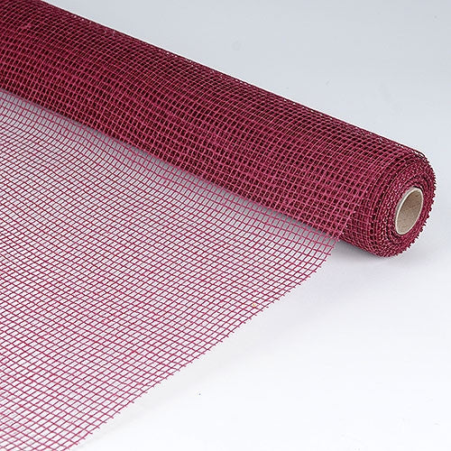 Natural Cotton Jute Burgundy ( 21 Inch x 6 Yards ) -