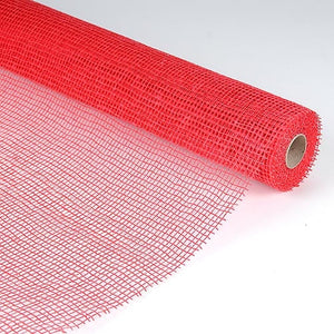 Natural Cotton Jute Red ( 21 Inch x 6 Yards ) -