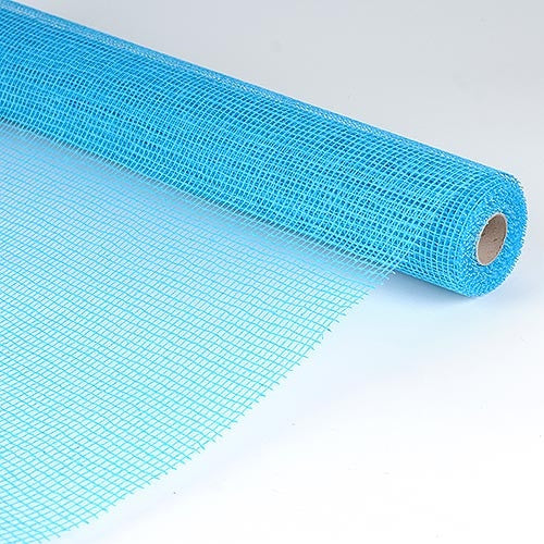 Natural Cotton Jute Turquoise ( 21 Inch x 6 Yards ) -