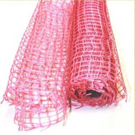 Natural Jute Mesh Light Pink ( 21 Inch x 6 Yards ) -