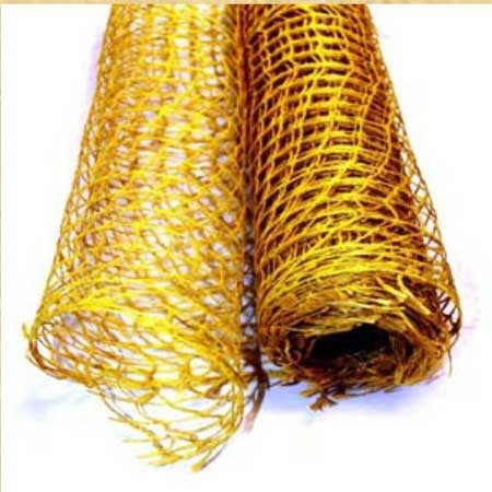 Natural Jute Mesh Yellow ( 21 Inch x 6 Yards ) -