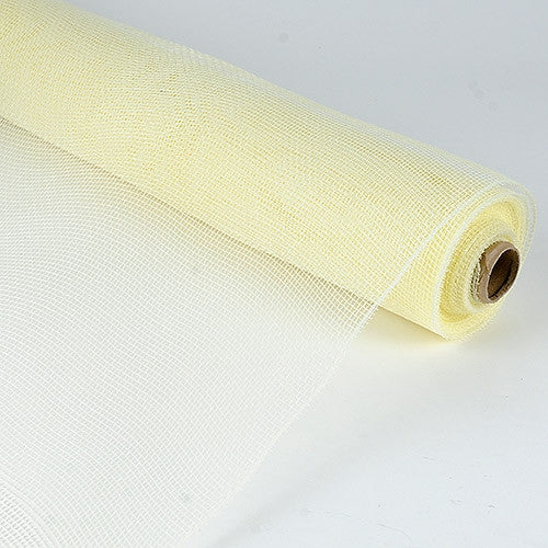 Floral Mesh Wrap Solid Color Ivory ( 10 Inch x 10 Yards ) -