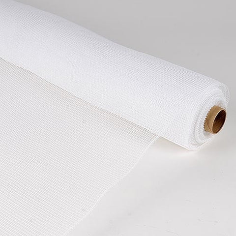 Floral Mesh Wrap Solid Color White ( 21 Inch x 10 Yards ) -