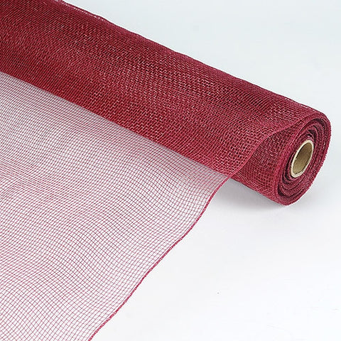 Floral Mesh Wrap Solid Color Burgundy ( 21 Inch x 10 Yards ) -