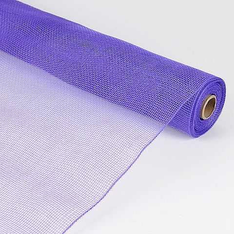 Floral Mesh Wrap Solid Color Purple ( 21 Inch x 10 Yards ) -