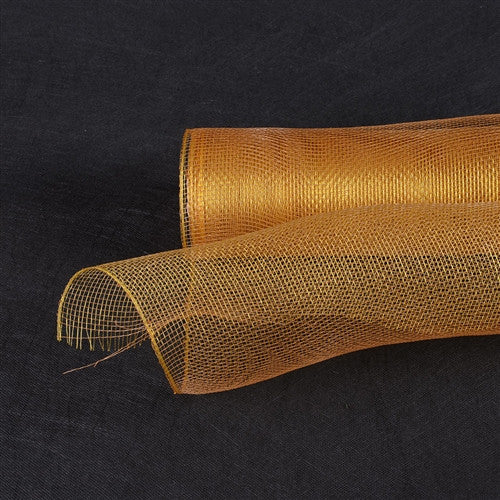 Floral Mesh Wrap Solid Color Old Gold ( 21 Inch x 10 Yards ) -