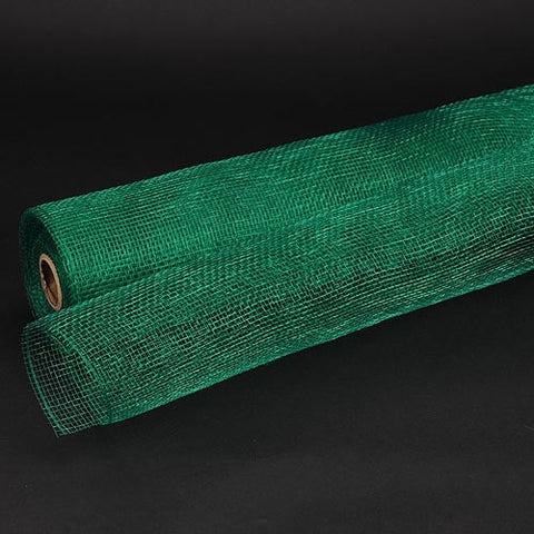 Floral Mesh Wrap Solid Color Emerald (21 Inch x 10 Yards ) -