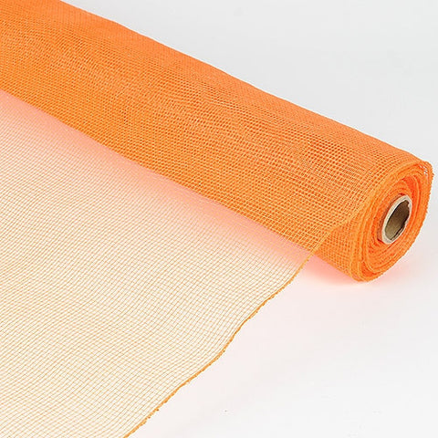 Floral Mesh Wrap Solid Color Orange ( 21 Inch x 10 Yards ) -