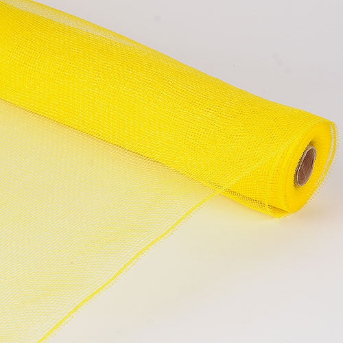 Floral Mesh Wrap Solid Color Yellow (21 Inch x 10 Yards ) -