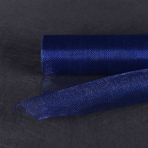 Floral Mesh Wrap Solid Color Navy Blue ( 21 Inch x 10 Yards ) -