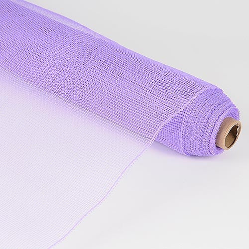 Floral Mesh Wrap Solid Color Lavender ( 21 Inch x 10 Yards ) -