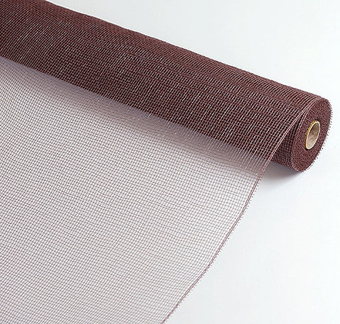 Floral Mesh Wrap Solid Color Brown ( 21 Inch x 10 Yards ) -