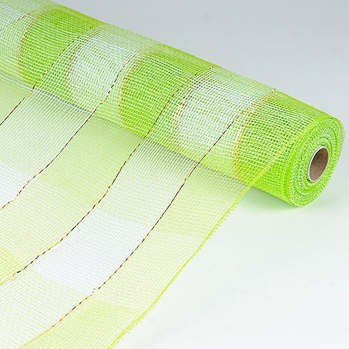 Christmas Mesh Wraps Apple Green ( 21 Inch x 10 Yards ) -