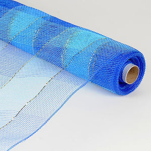 Christmas Mesh Wraps Royal Blue ( 21 Inch x 10 Yards ) -