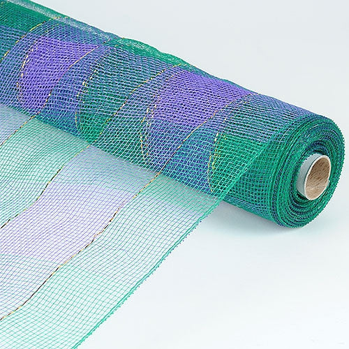 Christmas Mesh Wraps Teal ( 21 Inch x 10 Yards ) -