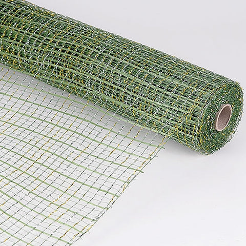 Floral Oasis Mesh Wrap Moss with Gold ( 21 Inch x 10 Yards ) -