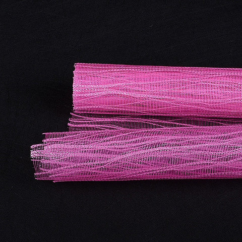 Metallic Twine Mesh Wrap Shocking Pink ( 21 Inch x 6 Yards ) -