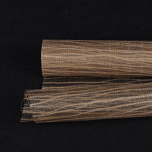 Metallic Twine Mesh Wrap Tan ( 21 Inch x 6 Yards ) -