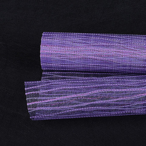Metallic Twine Mesh Wrap Purple ( 21 Inch x 6 Yards ) -