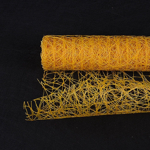 Metallic Sisal Mesh Wrap Light Gold ( 21 Inch x 6 Yards ) -