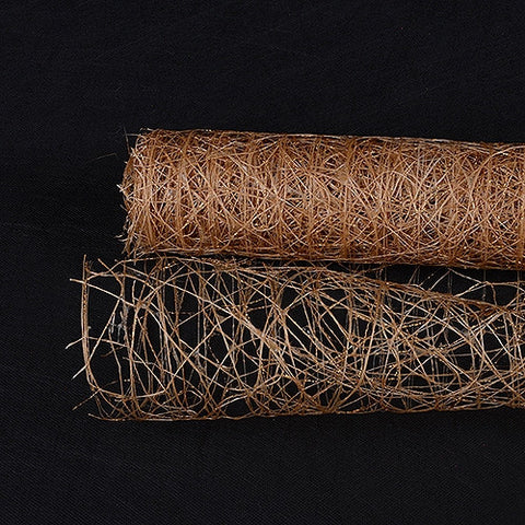 Metallic Sisal Mesh Wrap Tan ( 21 Inch x 6 Yards ) -