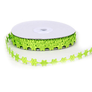 Satin Flowers Apple Green ( 1/2 Inch x 25 Yards ) -