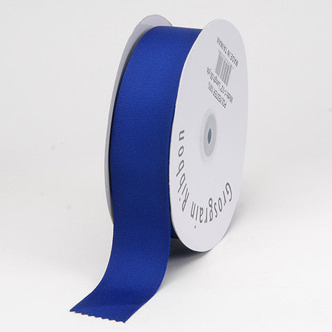 Grosgrain Ribbon Solid Color Royal Blue ( W: 3/8 inch | L: 50 Yards ) -