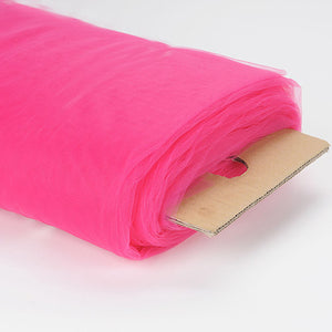 108 Inch Premium Tulle Fabric Bolt Fuchsia ( W: 108 inch | L: 50 Yards ) - Ribbons Cheap