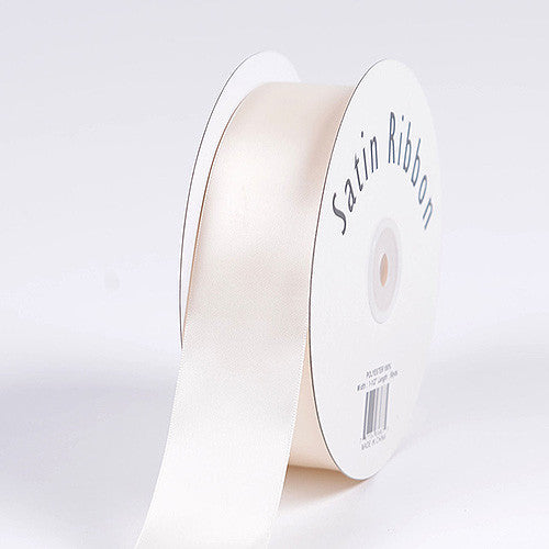 Satin Ribbon Single Face Antique White ( W: 3/8 inch | L: 100 Yards )