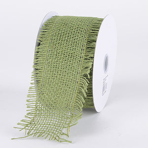 Frayed Edge Burlap Wired Edge Moss ( 5-1/2 Inch | 10 Yards ) -