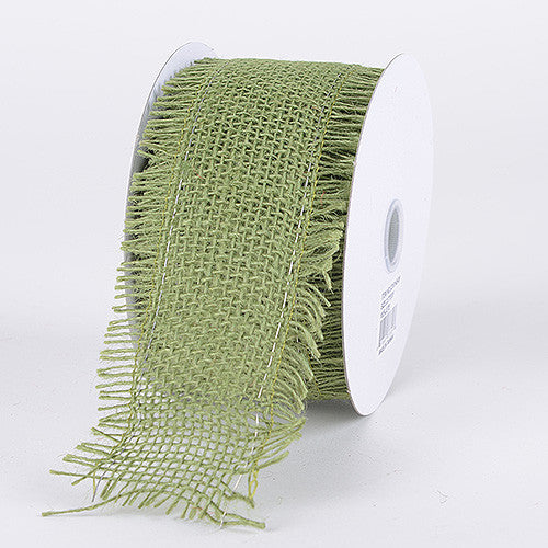 Frayed Edge Burlap Wired Edge Moss ( W: 2-1/2 Inch | L: 10 Yards )