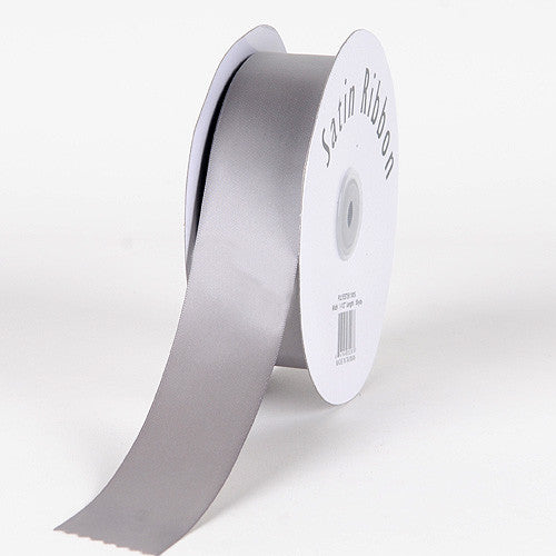 Satin Ribbon Single Face Silver ( 2 inch | 50 Yards )