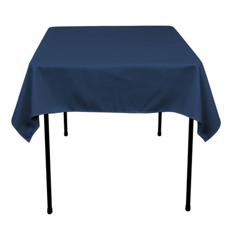 Navy  52 x 52 Square Tablecloths  ( 52 Inch x 52 Inch )- Ribbons Cheap