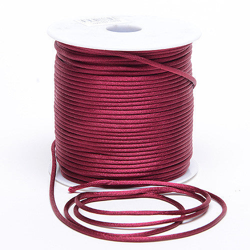 2mm Satin Rat Tail Cord Burgundy ( 2mm x 100 Yards ) - Ribbons Cheap