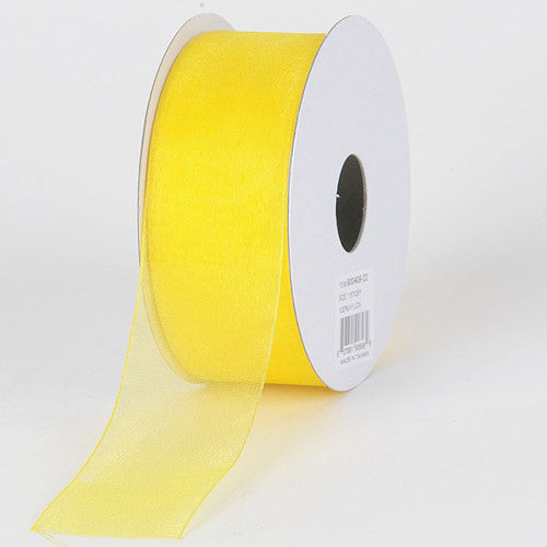 Sheer Organza Ribbon Daffodil ( W: 3/8 inch | L: 25 Yards )