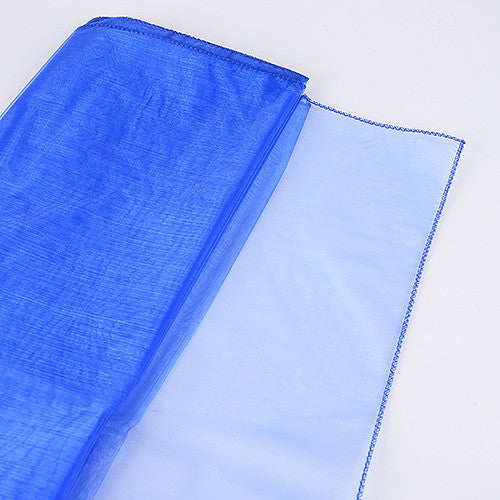 Wedding Organza Fabric Decor Royal Blue ( W: 28 inch | L: 216 Inches ) -
