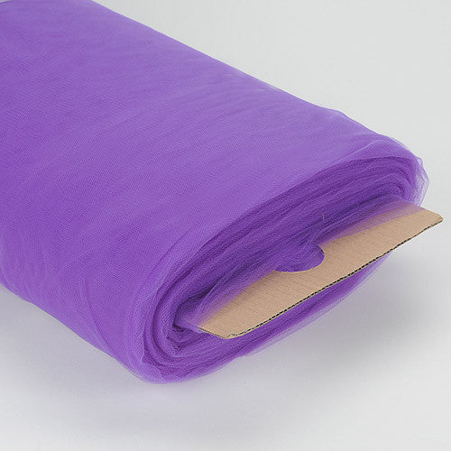 108 Inch Premium Tulle Fabric Bolt Purple ( W: 108 inch | L: 50 Yards ) - Ribbons Cheap