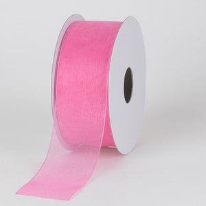 Sheer Organza Ribbon Hot Pink ( W: 3/8 inch | L: 100 Yards ) -