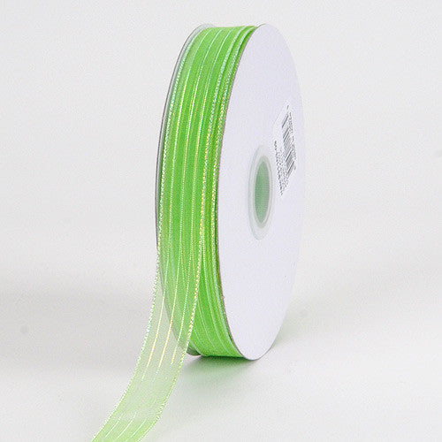 Corsage Ribbon Apple Green Iridescent ( W: 3/8 inch | L: 50 Yards )