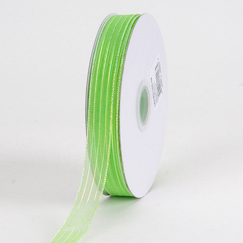 Corsage Ribbon Apple Green Iridescent ( W: 3/8 inch | L: 50 Yards ) -