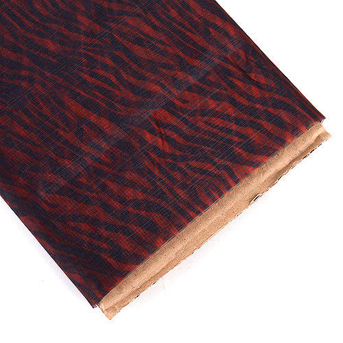 Organza Fabric Animal Printed Red ( W: 58 inch | L: 10 Yards ) -