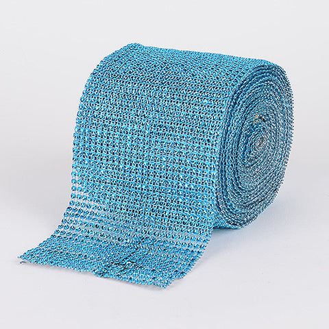 Bling Diamond Rolls Turquoise ( 1-1/2 Inch x 10 Yards ) -