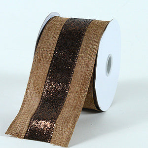Christmas Ribbon Brown ( 2-1/2 Inch x 10 Yards ) -