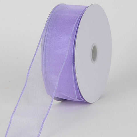 Organza Ribbon Thick Wire Edge 25 Yards Orchid ( W: 1-1/2 inch | L: 25 Yards ) -