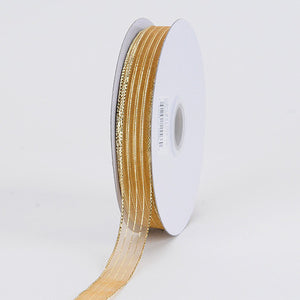 Corsage Ribbon Gold ( W: 3/8 inch | L: 50 Yards ) -