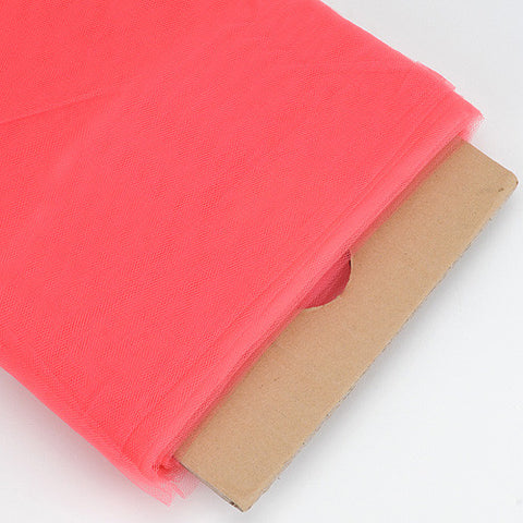 Coral 54 Inch Premium Tulle Fabric Bolt ( W: 54 inch | L: 40 Yards ) -