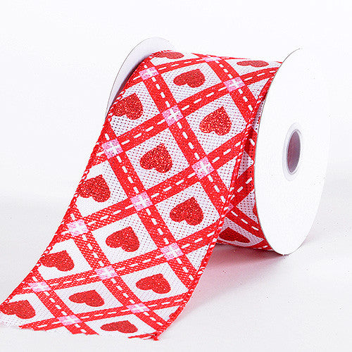 Valentine Ribbon Red ( 2-1/2 Inch x 10 Yards ) -