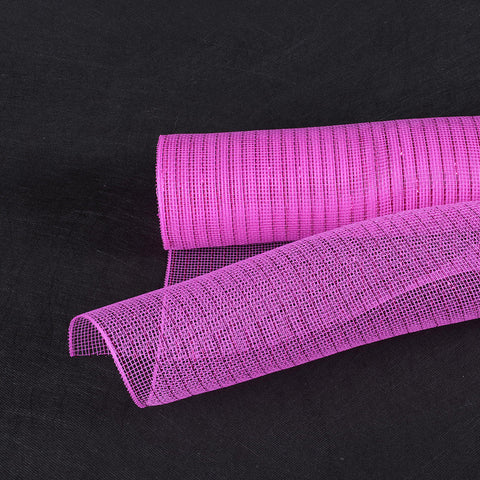 Deco Mesh Wrap Metallic Stripes Fuchsia Fuchsia Line ( 21 Inch x 10 Yards ) -