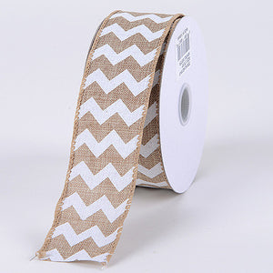 Chevron Canvas Wired Edge Natural ( W: 1-1/2 inch | L: 10 Yards ) -
